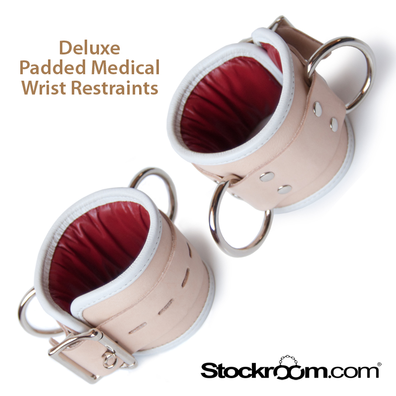 Stockroom Deluxe Padded Medical Wrist Restraints