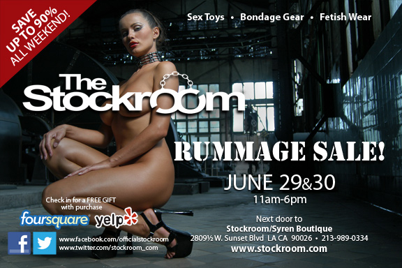 Our semi-bi-annual Rummage Sale is a can't miss event - plus this time we've added tours of The Stockroom!