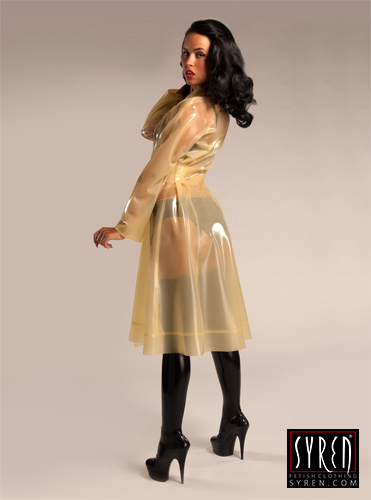 New Syren Latex Trench Coat