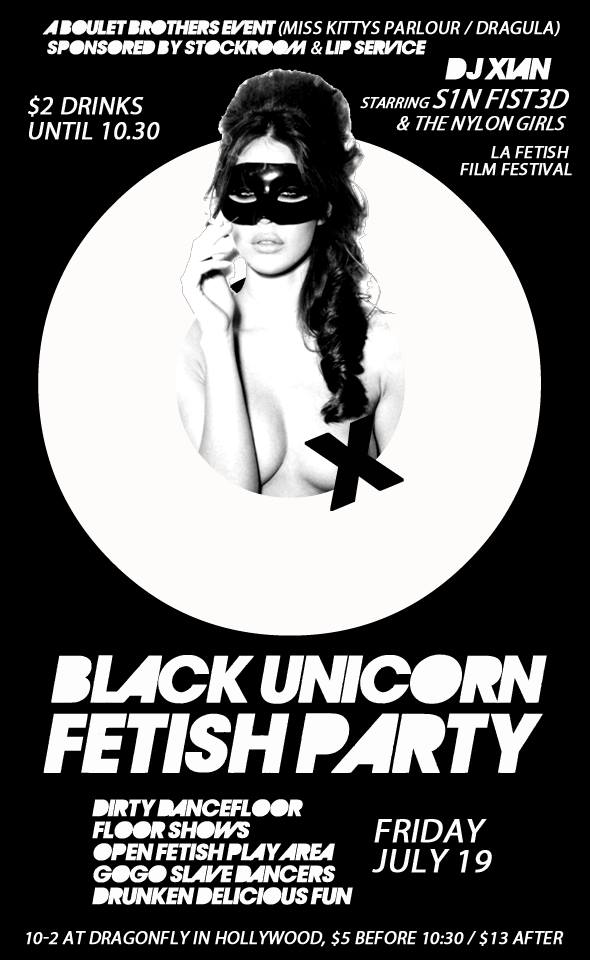 black unicorn fetish party hollywood