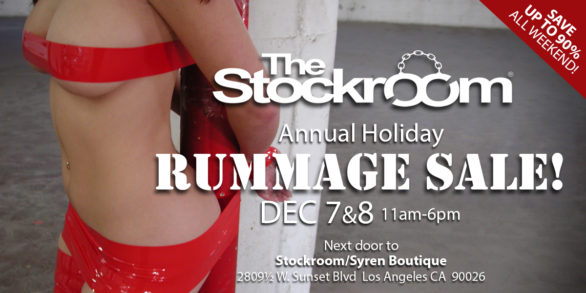 Stockroom Annual Holiday Rummage Sale