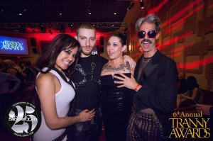 Annie Cruz, Sebastian Keys, Eden Alexander and Juanito Blanco get close at The Tranny Awards