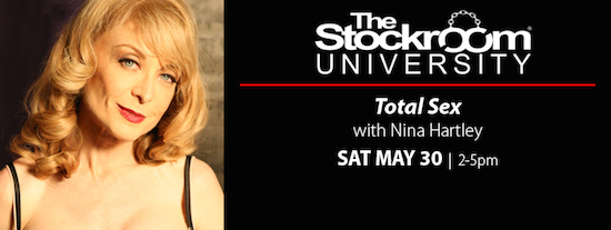 Stockroom University Total Sex with Nina Hartley, Sat. May 30