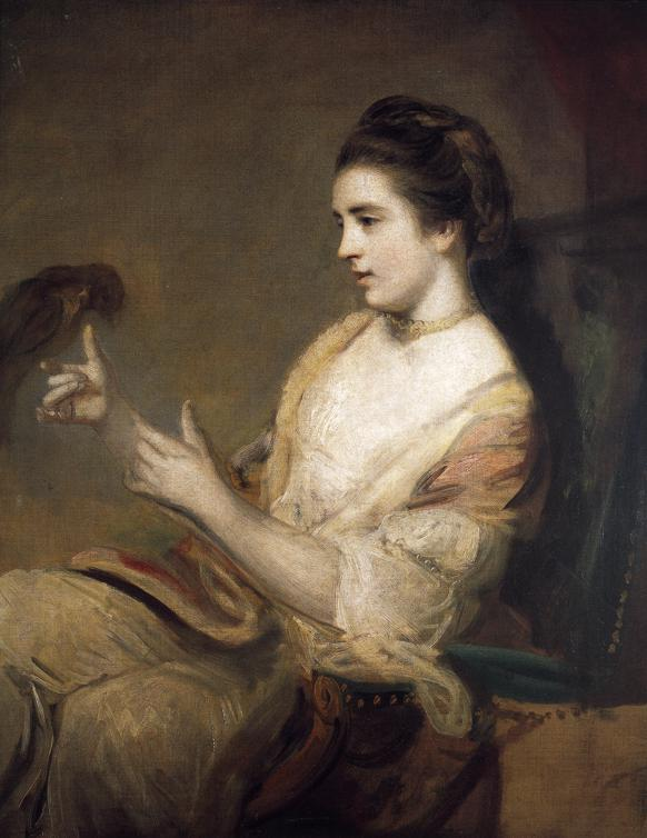 Kitty Fisher and Parrot, by Joshua Reynolds (1763-4)